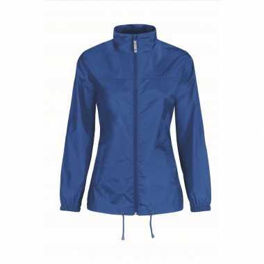 Zomerjasje windjas blauw voor dames/vrouwen