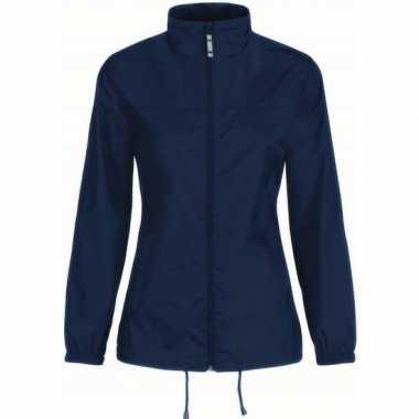 Zomerjasje windjas donkerblauw voor dames/vrouwen