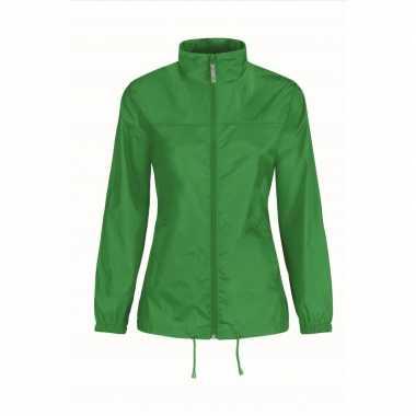 Zomerjasje windjas grasgroen voor dames/vrouwen