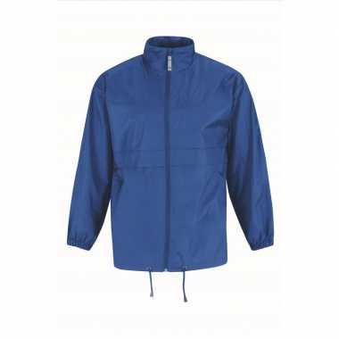 Zomerjasje windjas kobaltblauw voor heren/mannen
