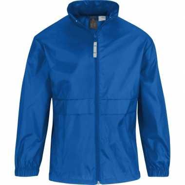 Zomerjasje windjas kobaltblauw voor jongens