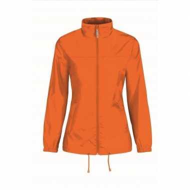 Zomerjasje windjas oranje voor dames/vrouwen