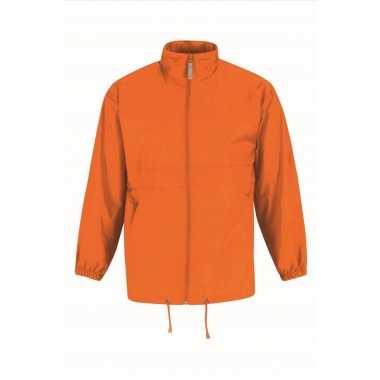Zomerjasje windjas oranje voor heren/mannen