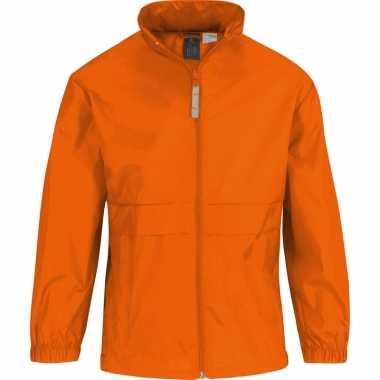 Zomerjasje windjas oranje voor jongens