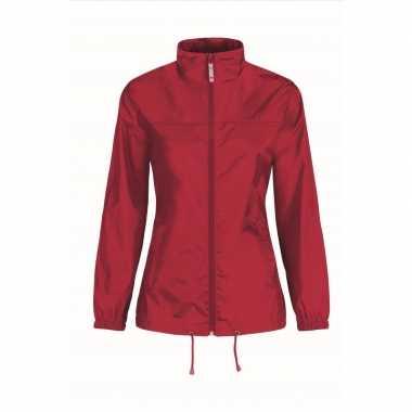 Zomerjasje windjas rood voor dames/vrouwen