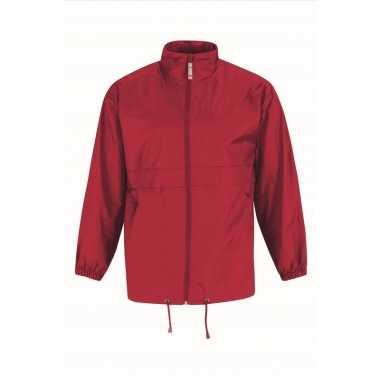 Zomerjasje windjas rood voor heren/mannen
