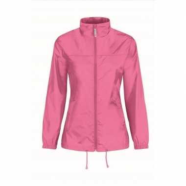 Zomerjasje windjas roze voor dames/vrouwen