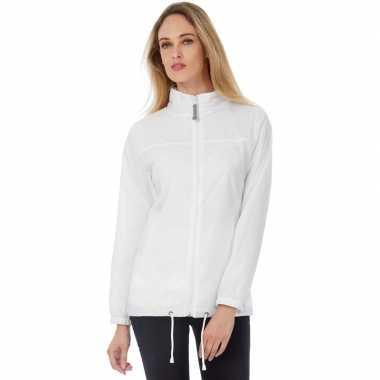 Zomerjasje windjas wit voor dames/vrouwen