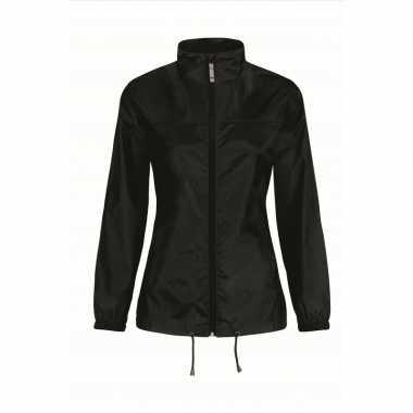 Zomerjasje windjas zwart voor dames/vrouwen