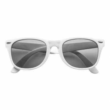 Zonnebril wit plastic montuur voor volwassenen