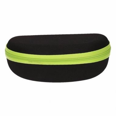 Zonnebrillen hoesje zwart met groen