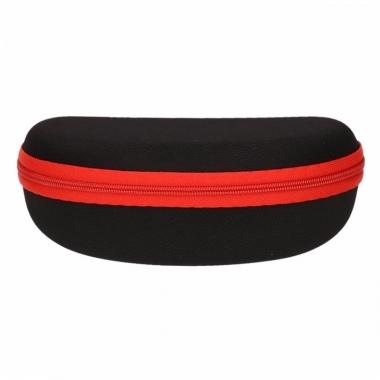 Zonnebrillen hoesje zwart met rood