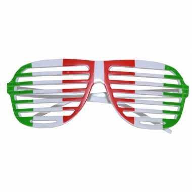Zonnebrillen met de vlag van italie