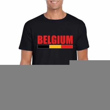 Zwart belgium supporter shirt heren