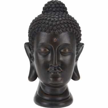 Zwart boeddha beeld 31 cm
