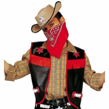 Zwart cowboy vestje voor kinderen