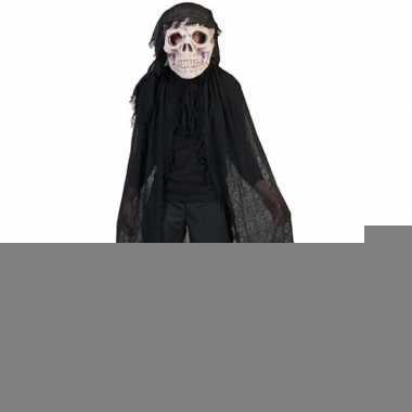 Zwart doodshoofd spook kostuum