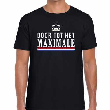 Zwart door het maximale t-shirt voor heren