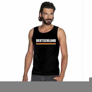 Zwart duitsland supporter singlet shirt/ tanktop heren
