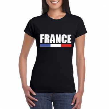 Zwart frankrijk supporter shirt dames trend