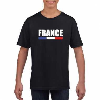 Zwart frankrijk supporter shirt kinderen trend