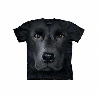 Zwart honden t-shirt labrador