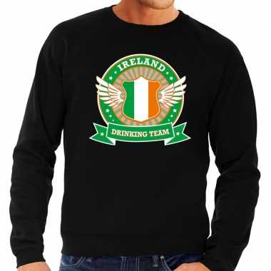 Zwart ireland drinking team sweater heren