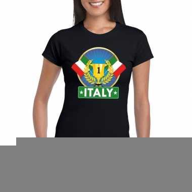 Zwart italie supporter kampioen shirt dames
