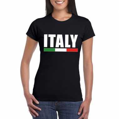 Zwart italie supporter shirt dames