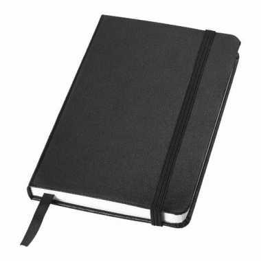 Zwart kantoor notittie boekje a6