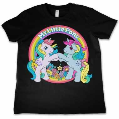 Zwart kinder t-shirt my little pony