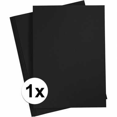 Zwart knutselpapier a4 formaat