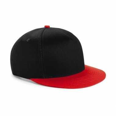 Zwart met rode kinder baseball pet