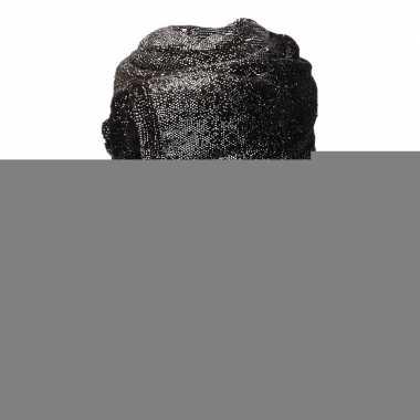 Zwart met zilveren glitters fleece deken 150 x 200 cm
