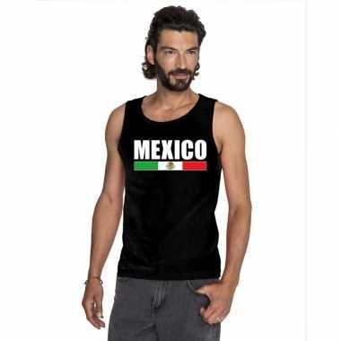 Zwart mexico supporter singlet shirt/ tanktop heren