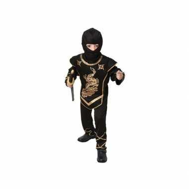 Zwart ninja verkleedkostuum
