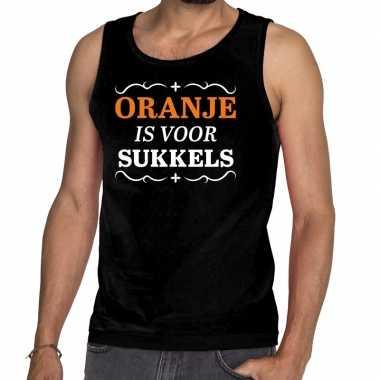 Zwart oranje is voor sukkels mouwloos shirt heren