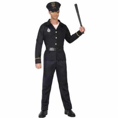 Zwart politie verkleed pak/kostuum voor volwassenen