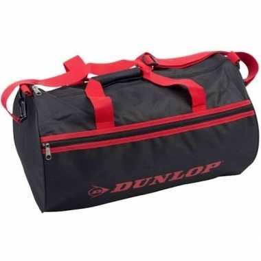 Zwart/rode sporttas dunlop 50x30x30cm