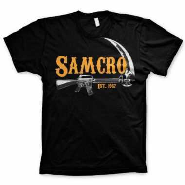 Zwart samcro t-shirt voor heren