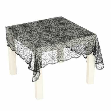 Zwart spinnenweb tafelkleed 70 x 95 cm