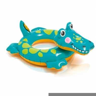 Zwemband opblaasbaar krokodil 51 cm