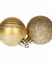 10 gouden kerstballen glitter en mat trend