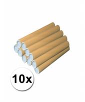 10 hobby materiaal kokers van karton 53x6 cm trend