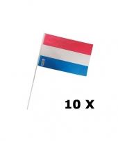 10 holland zwaaivlaggetjes van plastic trend