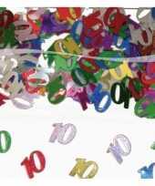 10 jaar confetti gekleurd trend