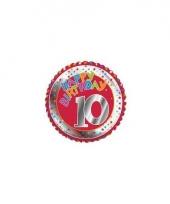 10 jaar helium ballon happy birthday trend