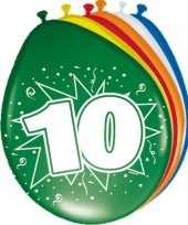 10 jaar versiering ballonnen 30cm 16x stuks trend