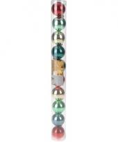 10 kerstballen glanzend bonte kleuren trend