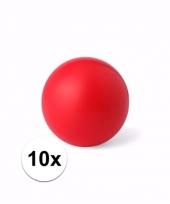 10 mindfullnes relax balletjes rood 6 cm trend